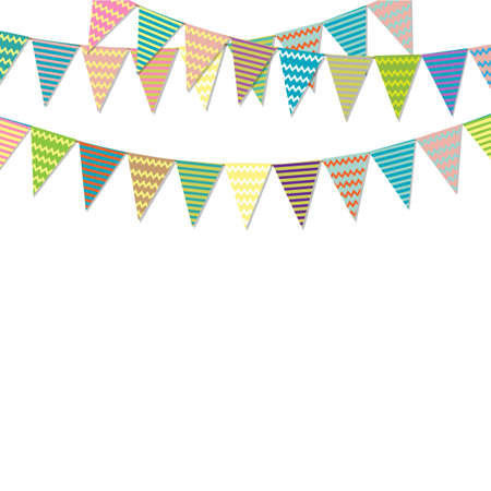 Vintage Bunting Flags, Vector Illustration Illustration