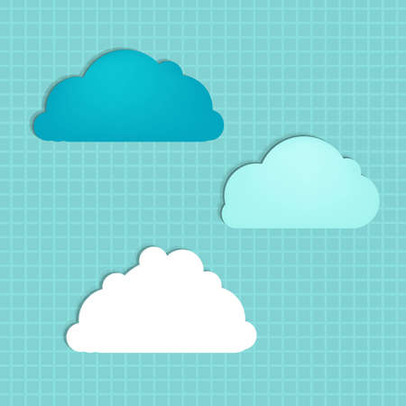 Vintage Cloud With Gradient Mesh, Vector Illustration  Stock Vector - 22438099