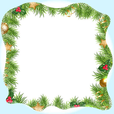 snowdrifts: Christmas Border With Snowdrifts, With Gradient Mesh, Vector Illustration
