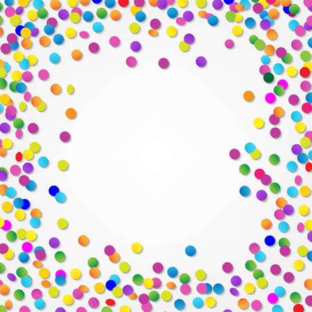 Kleurrijke Confetti Border, met Gradient Mesh, Vector Illustratie