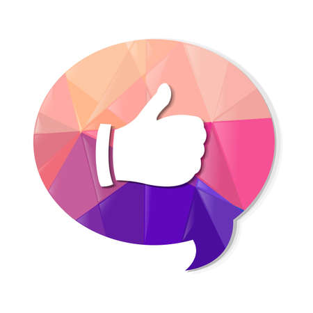 Colorful Speech Bubble With Best Choice Symbol, With Gradient Mesh, Vector Illustration Vector