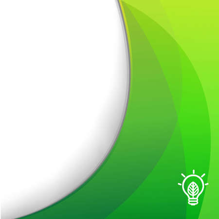 silk screen: Green Wallpaper With Eco Lamp Symbol, With Gradient Mesh, Vector Illustration