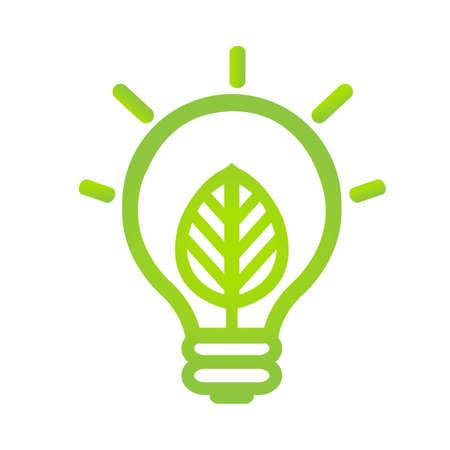 Eco Lamp Symbol, Vector Illustratie