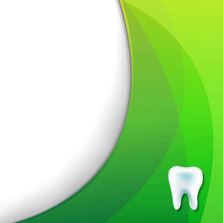 mouth screen: Green Wallpaper With Tooth, With Gradient Mesh, Vector Illustration Illustration