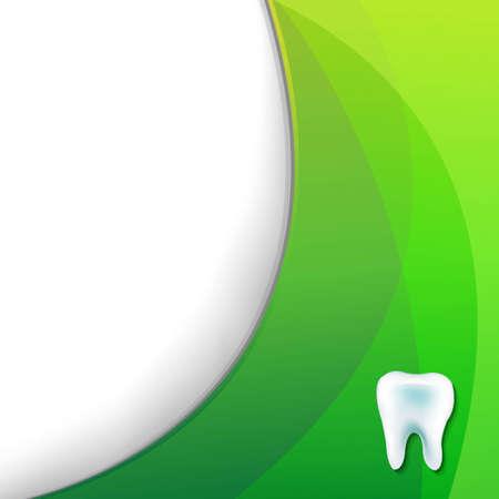 groen behang: Groen behang met tand, met Gradient Mesh, Vector Illustratie
