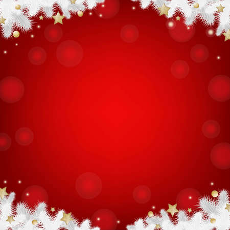 Red Christmas Card, With Gradient Mesh, Vector Illustration  Vector