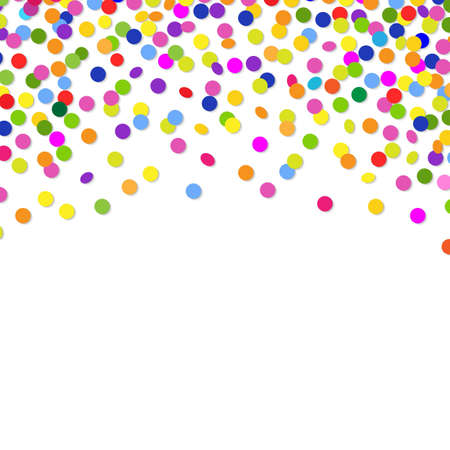 Color Confetti Frame, With Gradient Mesh, Vector Illustration Vector