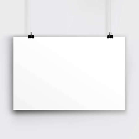 blank banner: Paper Card, With Gradient Mesh, Vector Illustration