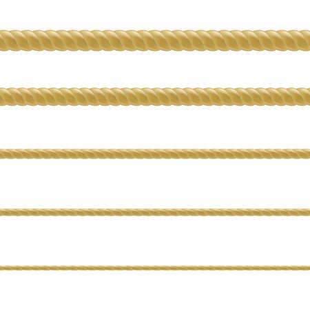 Rope Set, With Gradient Mesh, Vector Illustration Illustration