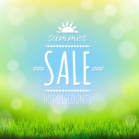 spring sale: Summer Sale Banner, With Gradient Mesh, Vector Illustration Illustration