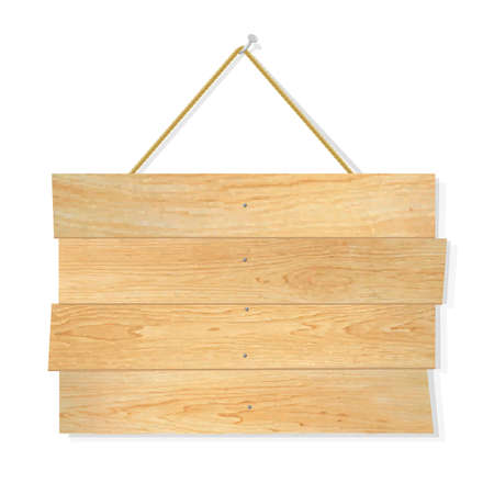 Wooden Board, With Gradient Mesh, Vector Illustration Vector