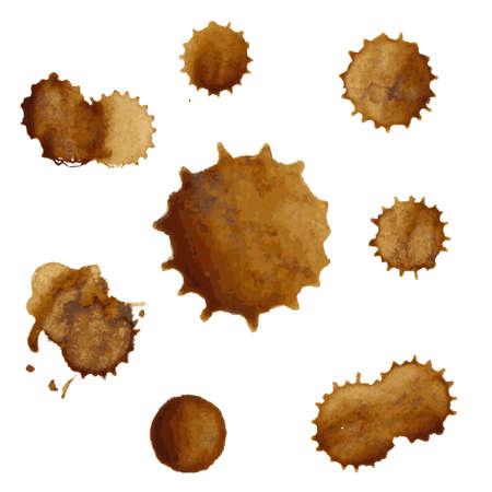 manchas de cafe: Manchas del caf� Conjunto Grande Ilustraci�n Vectores