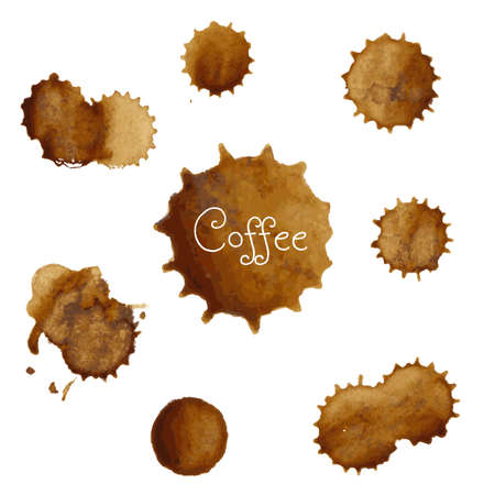 coffee stain: Coffee Stains Big Set Illustration