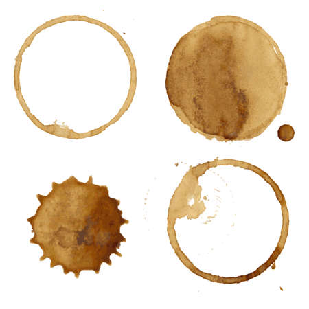 faience: Coffee Stains Collection Illustration Illustration