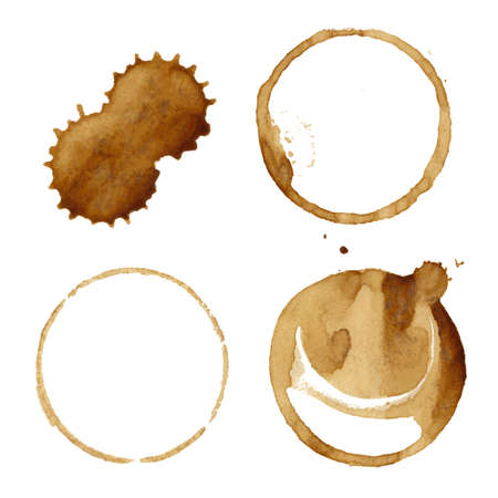 Coffee Stains Set Illustration