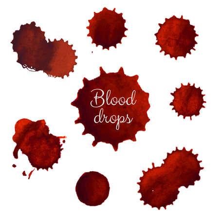 cut paper art: Blood Stains Big Set, Vector Illustration