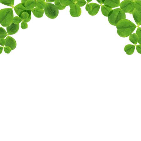 Grens met bladeren, met verloopnet, Vector Illustratie Stock Illustratie