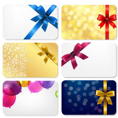 Gift Cards Big set met Gradient Mesh, Vector Illustratie