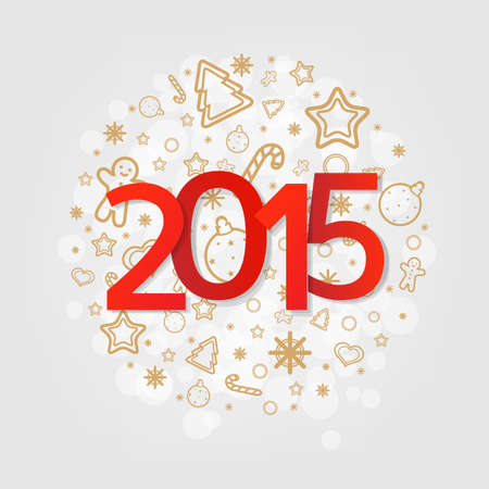 new year poster: New Year Poster With Gradient Mesh, Vector Illustration Illustration