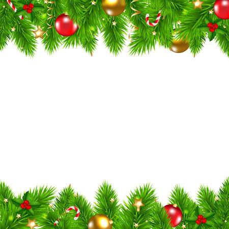 Retro Kerstmis Muur Met Gradient Mesh, Vector Illustratie