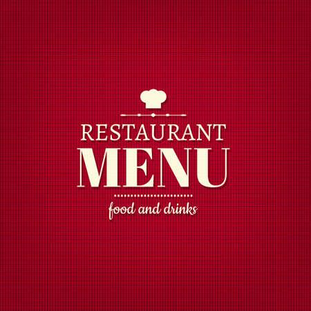 eatery: Restaurant Menu Card With Gradient Mesh, Vector Illustration Illustration