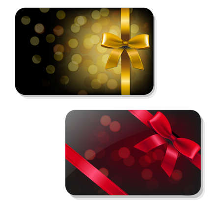 Color Gift Card Set With Gradient Mesh, Vector Illustration Фото со стока - 34386304