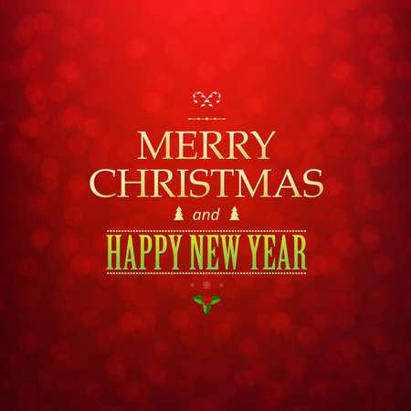 semaforo rojo: Tarjeta de Navidad roja Bokeh con malla de degradado, ilustraci�n vectorial