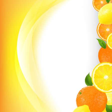 dewdrop: Orange Border With Line With Gradient Mesh, Vector Illustration
