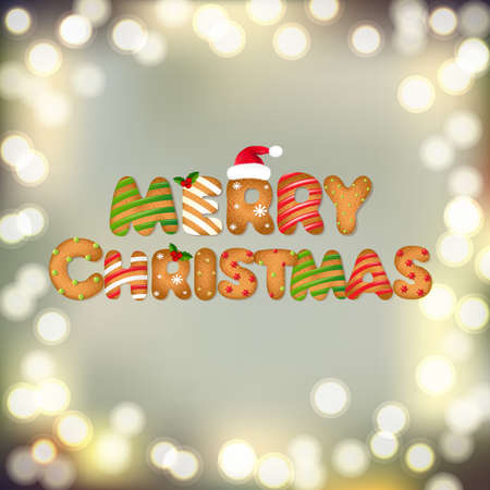 decorated: Christmas Banner With Gradient Mesh, Vector Illustration