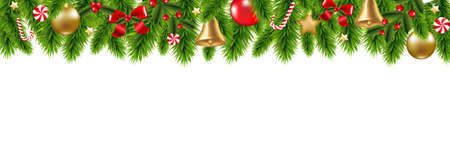 그라디언트 메쉬, 벡터 일러스트와 함께 크리스마스 프레임 일러스트
