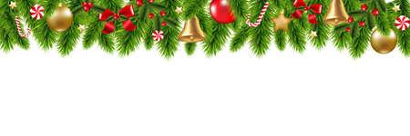 Kerstmiskader met Gradiëntnetwerk, Vectorillustratie