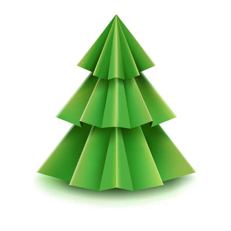furtree: Christmas Tree With Gradient Mesh, Vector Illustration