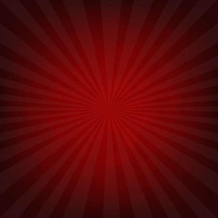 outburst: Sunburst Dark Red Retro Poster With Gradient Mesh, Vector Illustration