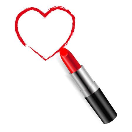 lip stick: Red Lipstick With Gradient Mesh, Vector Illustration Illustration