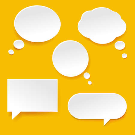advertising design: Speech Bubble Set With Gradient Mesh