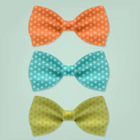 ties: Bow Tie With Gradient Mesh, Vector Illustration