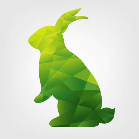 gradient mesh: Origami Rabbit With Gradient Mesh, Vector Illustration Illustration