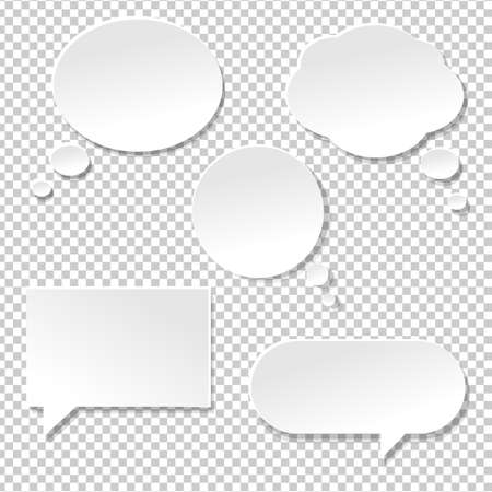 Speech Bubble Big Set, Isolated on Transparent Background, Vector Illustration