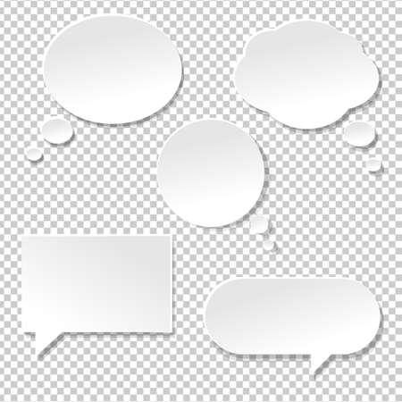 Speech Bubble Big Set, geïsoleerd op transparante achtergrond, Vector Illustratie Stockfoto - 55086608