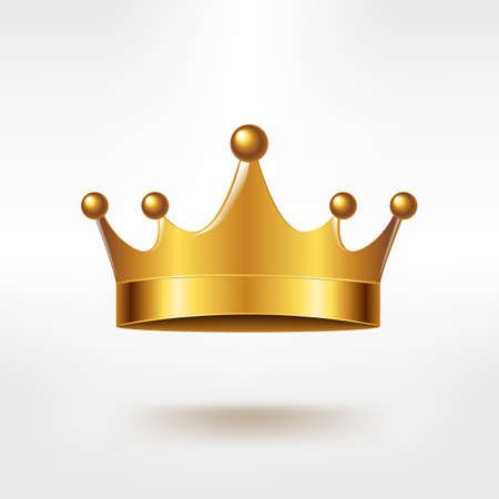 Gouden Kroon Met Gradient Mesh, Vectorillustratie Stock Illustratie