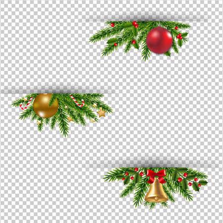 グラデーション メッシュでクリスマス ガーランド ベクトル イラスト