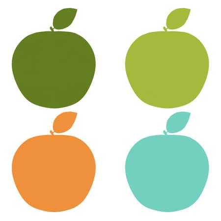 Natural Labels Set With Gradient Mesh, Vector Illustration Illustration