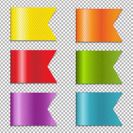 platinum: Web Ribbons Collection With Gradient Mesh, Vector Illustration