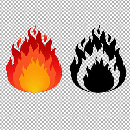 wildfire: Fire Symbol, Vector Illustration