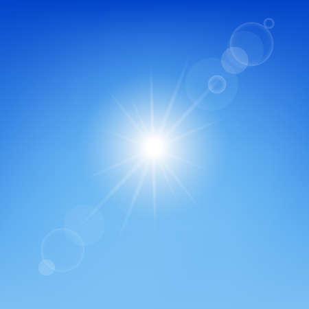 sunbeam background: Sun Gradient Mesh, Vector Illustration Illustration
