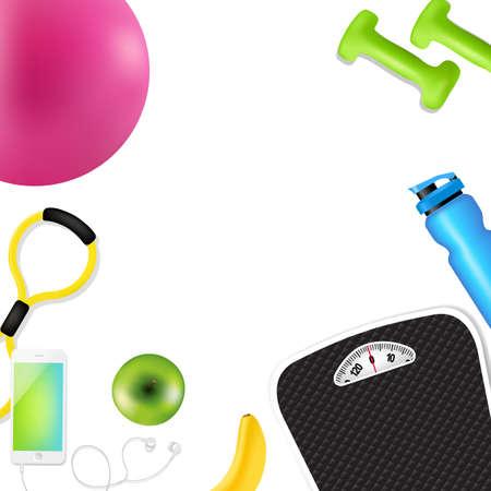 earbud: Sport Fitness Border Gradient Mesh, Vector Illustration Illustration
