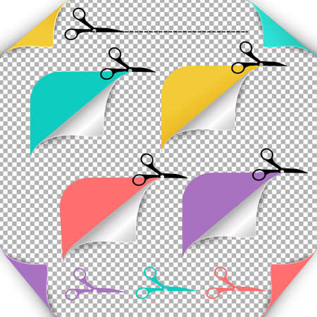 scissors: Corners And Scissors Gradient Mesh, Vector Illustration.