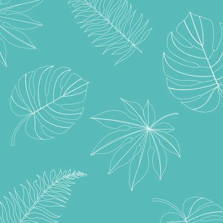 Tropische Achtergrond, Vectorillustratie Stock Illustratie
