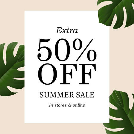 Summer Sale Banner, Vector Illustration, With Gradient Mesh Illustration