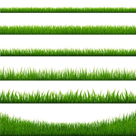 草ボーダー セット、ベクトル イラスト 写真素材 - 84074165